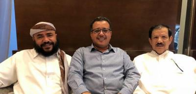 اول صورة للوزير المنشق عن الحوثيين محسن النقيب