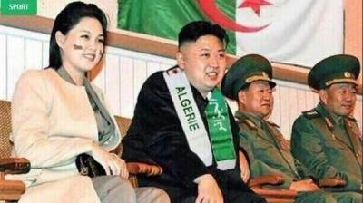 صورة - رئيس كوريا الشمالية يشجع منتخب الجزائر في مباراته أمام منتخب كوريا الجنوبية