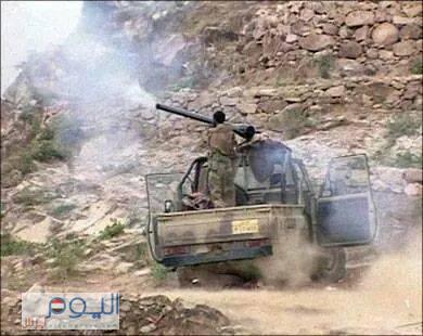 تجدد الاشتباكات بين  مسلحي الحوثي والجيش  بعمران بعد سيطرة الحوثيين على  دار الايتام  بمنطقة بيت شبيل