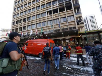 بيروت.. تفجير انتحاري في فندق خلال مداهمة أمنية