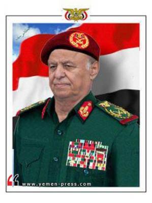 رئيس الجمهورية القائد الأعلى للقوات المسلحة يجري إتصالاً هاتفياً مع العميد حميد القشيبي قائد اللواء 310 بعمران
