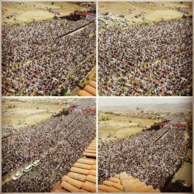 """( بالصور ) الألاف يحتشدون في شارع الستين بصنعاء في جمعة  """"الدفاع عن الجمهورية والوفاء لشهداء الجيش"""""""