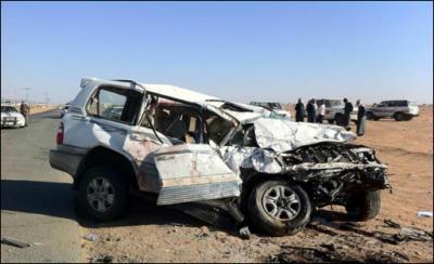 وفاة المغترب خالد بن أحمد حسين العرادة وزوجته وأربعة من أولاده في حادث مروري مروع أثناء عودتهم من الإمارات