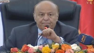 الرئيس هادي يتحدث عن رفع اسعار المشتقات النفطية ويعد بصرف مستحقات الموظفين