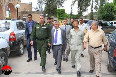 """وزير الداخلية اللواء """" الترب"""" يتفقد الخدمات الأمنية في وزارة الكهرباء والاتصالات والمرابطة بالقرب من مخيمات الحوثيين"""
