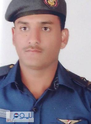 ( صورة) الملازم ثاني طيار محمد صالح الضبيع والذي استشهد يوم أمس إثر تحطم طائرته التدريبية في تعز