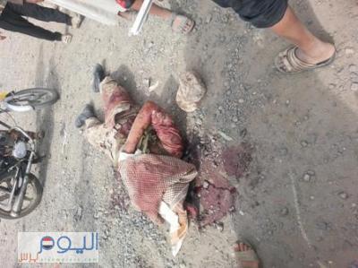 عشرات الجثث من أفراد الجيش متناثرة في منطقة شملان والمواطنون يناشدون وزارة الدفاع ألتدخل لإخلاء الجثث من المنطقة( صورة)