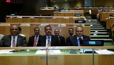 """أمام الجمعية العامة للأمم المتحدة .. وزير الخارجية  """" السلال """" يوجه إتهاماً لعناصر من  """"النظام السابق """" بدعم الحوثيين في إسقاط صنعاء"""
