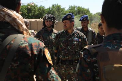 قائد قوات الأمن الخاصة بمأرب يبدأ بممارسة مهامه الميدانية ( صوره)