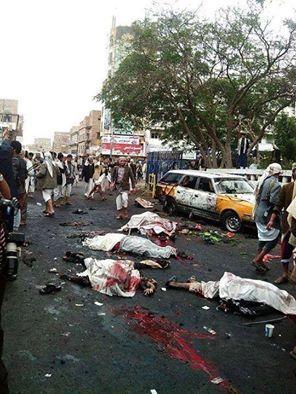 ارتفاع حصيلة إنفجار التحرير بصنعاء الى 47 قتيلا و75 جريحًا ( صور)