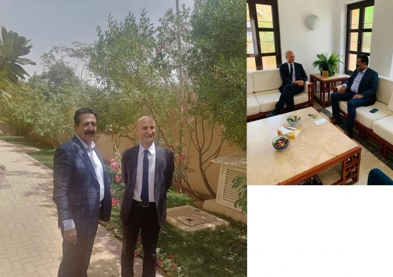 اللواء العواضي يلتقي السفير الفرنسي لدى اليمن