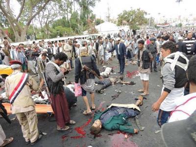 """"""" اليوم برس""""  ينشر أسماء قتلى وجرحى الهجوم الإنتحاري والذي إستهدف تجمعاً للحوثيين بميدان التحرير بصنعاء ( الأسماء)"""