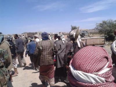 اشتداد المواجهات بين أنصار الشريعة والحوثيين في رداع وانضمام العديد من المقاتلين القبائل لقتال الحوثيين ( صور)