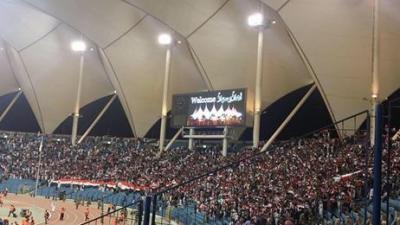 ( شاهد بالصور) الجمهور اليمني يُحرج الجماهير الخليجية  بحضوره المهيب في مباراة المنتخب الوطني مع منتخب البحرين