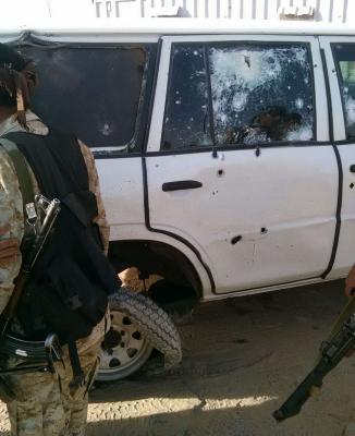 نجاة قائد المنطقة العسكرية الثالثة من محاولة اغتيال بمأرب ( صور)