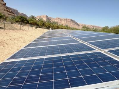 تدشين العمل بأكبر مضخة تعمل بالطاقة الشمسية في اليمن والجزيرة العربية بحضرموت ( صورة)