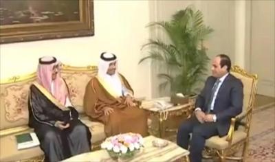 مُصالحة مصرية قطرية برعاية سعودية والسيسي يستقبل مبعوث أمير قطر