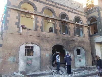 إنفجار يستهدف أحد منازل القياديين الحوثيين بالعاصمة صنعاء