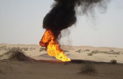 تفجير أنبوب النفط المؤدي إلى صافر والأجهزة الأمنية تكشف عن إسم المُعتدي
