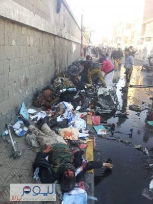 (صور أولية - تفاصيل ) عن الإنفجار الذي هز شارع كلية الشرطة بصنعاء