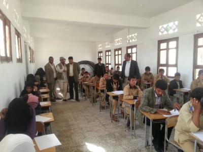 ميفعة عنس تدشن امتحانات النصف الأول من العام الدراسي 2014/2015