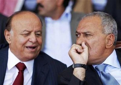 """الرئيس السابق """" صالح """" يرسل وفداً لزيارة الرئيس هادي"""