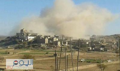 الحوثيون يفجرون منازل المواطنين بالبيضاء ( صور - أسماء)