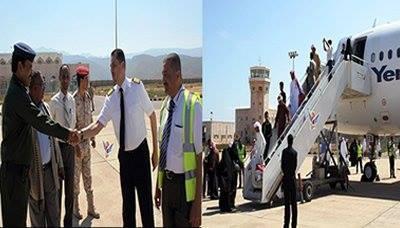 طيران اليمنية تدشن أول رحلاتها الدولية بين سقطرى ودبي