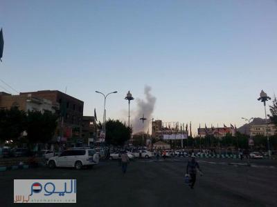 عاجل : إنفجار عنيف يهز منطقة شعوب وسط العاصمة صنعاء ( صورة