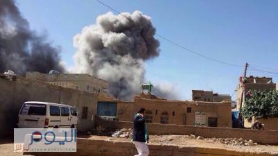 """"""" اليوم برس """" ينشر أسماء مقرات القيادات الحوثية والمواقع التي تم إستهدافها من قبل طيران التحالف بمحافظتي صعدة وعمران( صور)"""
