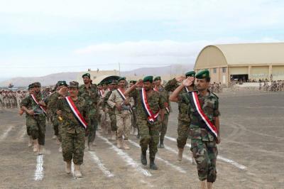 شاهد بالصور - المنطقة العسكرية الثالثة بمحافظة مأرب تشهد أكبر عرض عسكري من الألوية المؤيدة للشرعية