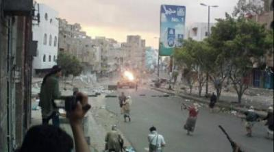 قتلى وجرحى في تجدد المواجهات بين المقاومة والحوثيين بتعز ( مواقع المواجهات)