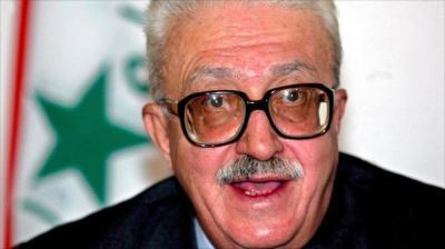 """وفاة """" طارق عزيز """" وزير خارجية العراق الأسبق في عهد صدام حسين"""