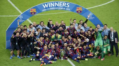برشلونة يتوج بلقب بطل دوري أبطال أوروبا بفوزه على يوفنتوس