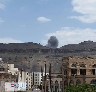 أسماء المواقع التي إستهدفها طيران التحالف منذ صباح اليوم بالعاصمة صنعاء ( صورة)