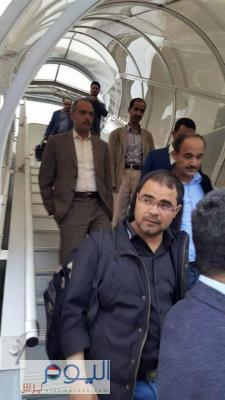 وفد الحوثيين والمؤتمر يصل جنيف ( صورة)
