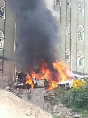 المقاومة الشعبية بمحافظة إب تتبنى تفجير طقم تابع للحوثيين (صوره)