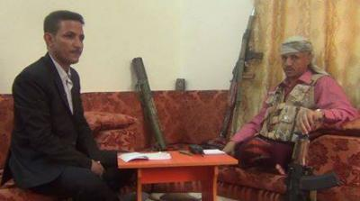 الشيخ حمود المخلافي يكشف عن المساحة التي يسيطر عليها الحوثيين وانصارهم بتعز وعدد عناصر المقاومة الشعبية - تفاصيل