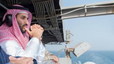 ظهور وزير الدفاع السعودي محمد بن سلمان بعد إشاعات مقتله ( صور)