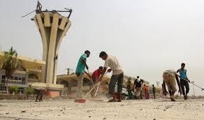 طائرة عسكرية سعودية تفتتح مطار عدن