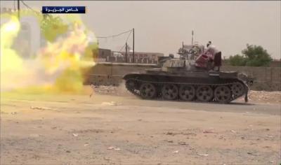 المقاومة والجيش يسيطران على معسكر لبوزة وعقان ويقتربان من آخر نقطة تفصل المحافظات الشمالية عن الجنوبية