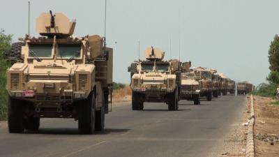 وصول قوة عسكرية كبيرة إلى محافظة أبين تمهيداً لتحريرها من الحوثيين