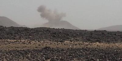 غارات جوية على معسكر الأمن الخاص بإب تمهيداً لقطع الإمدادات على تعز