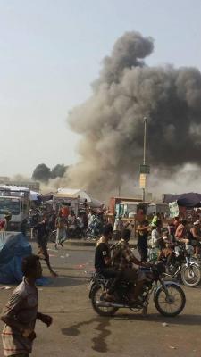 غارات جوية على مواقع للحوثيين بالحديدة ( صور - المواقع المستهدفة)