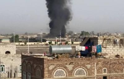 عاجل : إستمرار الغارات الجوية على العاصمة صنعاء ومحيطها وإنفجارات وحرائق نتيجة تلك الغارات ( المواقع المستهدفة)