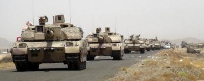 وصول قوات وآليات عسكرية ضخمة إلى الآراضي اليمنية تمهيداً لإستكمال المرحلة الثالثة من السهم الذهبي