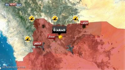 غارات جوية على مطار صعدة واستعدادات في مأرب للحسم واستمرار القصف والمعارك في تعز