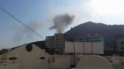 غارات جوية عنيفة على العاصمة صنعاء مع استمرار تحليق الطيران بكثافة ( الموقع المستهدف)