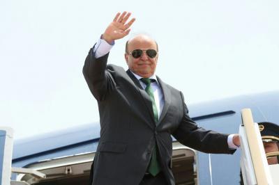 الرئيس هادي يغادر الرياض