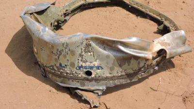 شاهد بالصور السلطات السعودية تنشر صور وتقول أنها لحطام صاروخ سكود الذي أطلقه الحوثيون على جازان